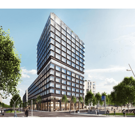 Visualisation of the Campus Tower ©Garbe Immobilien-Projekte GmbH